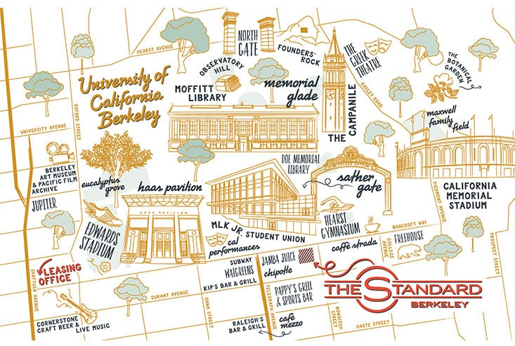Map of The Standard at Berkeley