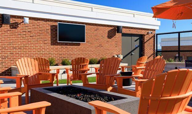Outdoor TV Lounge