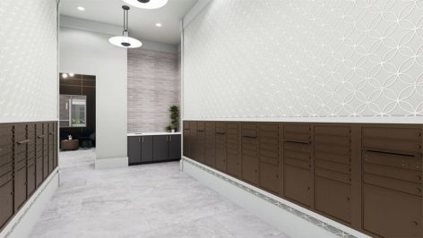 Leasing Mailroom render at The Standard at Berkeley