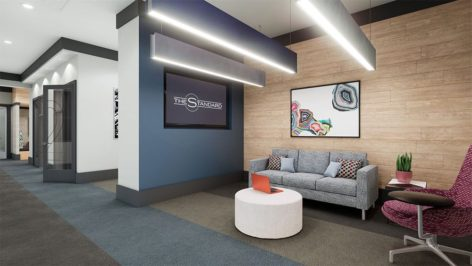 CoWork lounge render at The Standard at Berkeley