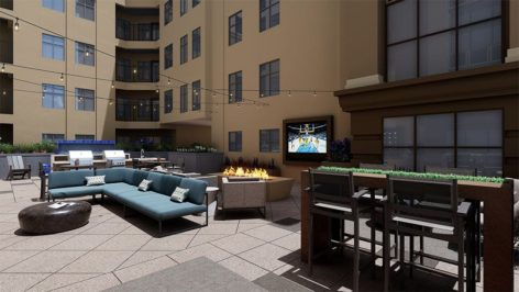 Courtyard render at The Standard at Berkeley